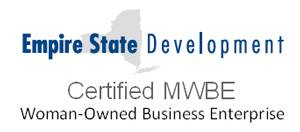 Empire State Development Certified MWBE Woman-Owned Business Enterprise